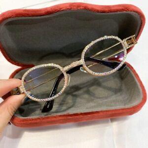 Hip Hop Quavo Migos Diamond Bling Clear Metal Gold Shades Glasses Sunglasses New