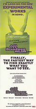 OFF BROADWAY ONLINE DOT COM ADVERTISING UNUSED COLOUR POSTCARD