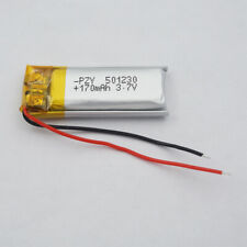 3.7v 170 mah Polymer Li battery 501230 for GPS mp3 Sat Nav headset record pen