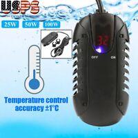 25W 50W 100W Mini Aquarium Fish Tank LED Digital Heater Adjustable Thermostat