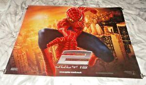 Spiderman 2 Original UK Quad Movie Cinema Poster 2004 Tobey Maguire Teaser 1