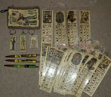 Ancient Egyptian Egypt Bundle Lot Gifts Bookmarks Keyrings Papyrus Pens Purse