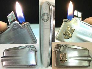 Briquet Ancien - RONSON Varaflame avec Insigne - Lighter Feuerzeug Accendino