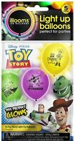 illooms Light Up LED Party Balloons Disney Toy Story - 5 Pack