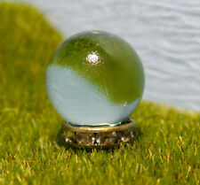 Miniature Fairy Garden Gazing Ball - Gold Sparkly Stand - Tiny Outdoor Decor