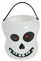 Pack of 6 - Plastic Skull Buckets with Handles - Gift Boxes Halloween Pirate