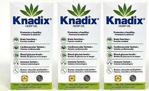 3 KNADIX OIL DIETARY SUPPLEMENT 30 CAPS SUPLEMENTO DIETETICO 30 VEGGIE CAPS