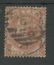 SG112 THE 1867 QV 10d  RED BROWN FINE USED CAT £400