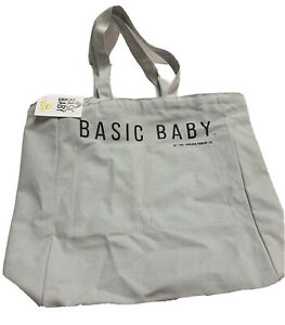 Basic Baby Canvas Tote Diaper Bag Grey By Evolved Parent Co 14x16x5 Unisex NEW