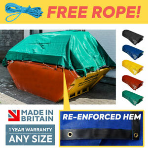 Heavy Duty Skip Net Covers All Sizes + Custom Sizes Made To Measure ✅ Free Rope❗