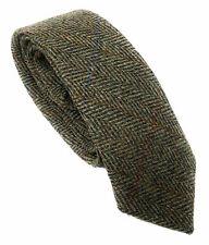 Quality Harris Tweed Green Herringbone Tie
