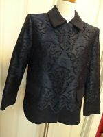 Ann Taylor Lace Navy Blue Jacket Sz 8 Cotton/Rayon - Great Condition