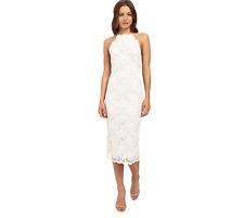 Cocktail Dress Lace, Ivory, Open Back, Size XS, Wedding