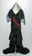 Spanish Senorita Stretch Sequin & Satin Dress Deluxe Ladies Costume Small-Medium