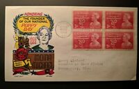 1948 Moina Michael Poppy Day Athens Georgia to Wis Illustrated First Day Cover