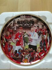 More details for danbury mint porcelain manchester united collectors plate  100 years at the top