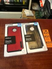 Lot Of 2 Incipio - NGP Case for Motorola Moto G6 - Clear Red New Wholesale