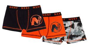 Boys 3 Pack Nerf Boxer Shorts Kids Camouflage Underwear Briefs Boxers Trunks