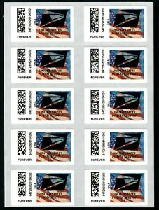 APC / CVP / ATM #CVP91b Full Sheet of 10 USPS Eagle Overprint ERRORS, Flag stamp