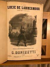 Donizetti Lucie de Lammermoor partition chant piano française 2e édition Mayaud