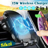 15W Qi Wireless Charger Auto KFZ Handy Halterung Induktions Ladegerät Clamping