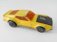 No.44 Matchbox Superfast Lesney Diecast Yellow Boss Mustang 1972