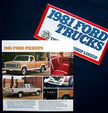 Prospekt brochure 1981 Ford Trucks Ranger * Bronco * Econoline * Pickups (USA)