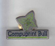 RARE PINS PIN'S .. INFORMATIQUE PC ORDINATEUR COMPUTER BULL PRINT PAPILLON ~AK