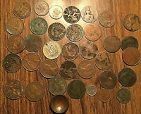 LOT OF 36 FOREIGN COIN MOSTLY GB