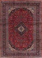 Vintage Floral Medallion Ardakan Oriental Area Rug Hand-Knotted Carpet 10'x13'