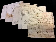 LOT OF SIX MANUSCRIPTS IN SPANISH 1750s