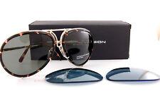 New Porsche Design Sunglasses P8613 8613 B Gold Interchangeable Lenses Unisex