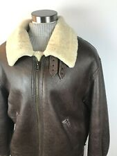 Vintage Calafate Heavyweight Leather and Shearling Size XL B3 Bomber Jacket