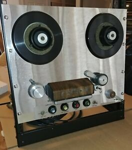 AMPEX 351 2 Track Tape Recorder Reel 2 Reel Transport Chrome - WORKING VINTAGE