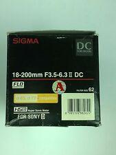 Sigma 18-200mm f/3.5-6.3 II DC HSM Lens For Sony A-Mount APS-C DSLR's