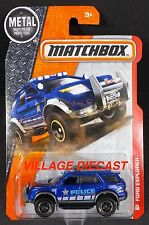 2016 Matchbox #80 Ford Explorer BLUE METALLIC/CSI POLICE/MOC