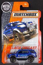 2016 Matchbox #80 Ford Explorer BLUE METALLIC/CSI POLICE/MOC