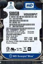 Western Digital WD5000BPVT-60HXZT1 500GB DCM: EHOT2HB