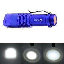 7W 1200LM Mini Q5 LED Flashlight Torch Adjustable Focus Zoom Light Lamp
