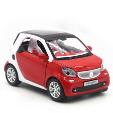 Benz Smart ForTwo 1:24 Scale Model Car Diecast Toy Vehicle Red Gift Sound Light