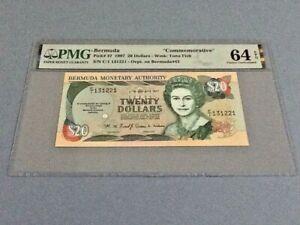 Bermuda 20 Dollars P-47 1997 'Commemorative'  PMG 64 EPQ