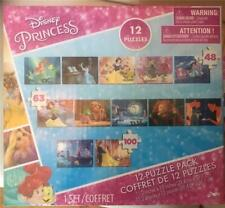 Disney Princess 12 Puzzle Pack Puzzle New Sealed