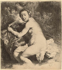 Rembrandt Etching Reproduction: Diana at the Bath: Fine Art Print