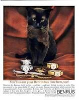 1960 Benrus PRINT AD Watch 7 Models beautiful Black Cat