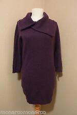 NWT Le Pavot Purple/Grapes Pure Cashmere Fichu Neckline Tunic Sweater SZ S $495