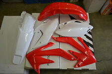RACE TECH PLASTIC KIT HONDA CRF450X  2008-2018 SHROUDS  FENDERS PLATES RED/WHITE