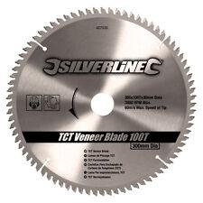 300mm TCT Veneer Blade 100 Teeth 30mm Bore 25mm 20mm 16mm Reduction Ring 427539
