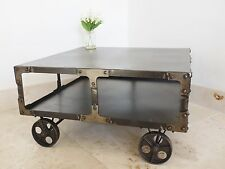 Vintage/Retro Square Coffee Tables with Shelves