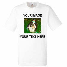 Your Image Photo Here - Custom T Shirt Printing Personalised Stag Hen Party joke