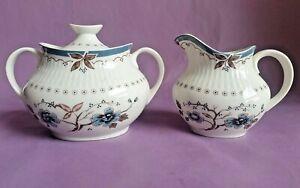 Vintage Royal Doulton 'Old Colony' Milk Jug & Lidded Sugar Bowl